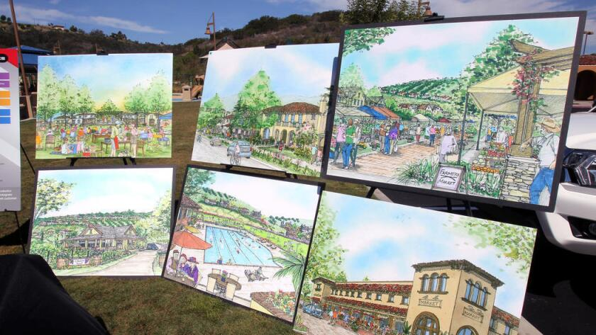 Renderings show what Lilac Hills Ranch might look like off the Interstate 15 corridor.