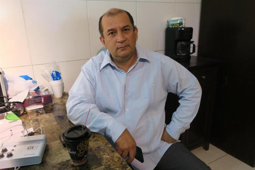 Fotografía del 29 de enero de 2018, del presidente de Justicia de Tamaulipas, Geovanni Barrio, durante una entrevista con Efe en Reynosa (México). EFE