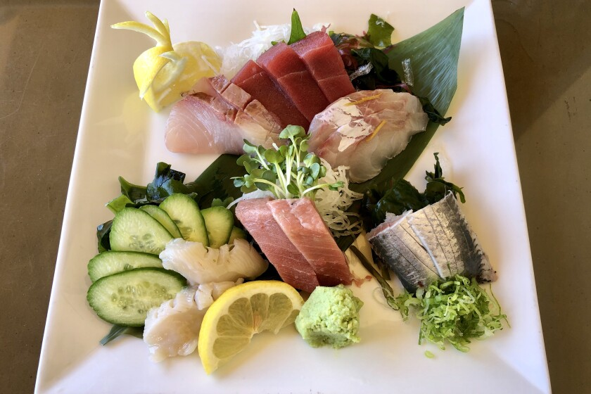 Special sashimi lunch at Nozomi in Torrance.