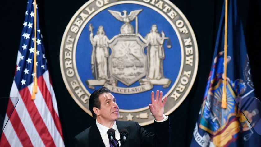 """We must take dramatic action to save ourselves and preserve our state's economy,"" New York Gov. Andrew Cuomo said."