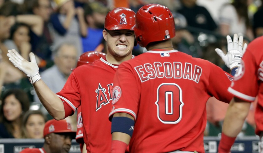 Yunel Escobar, Mike Trout