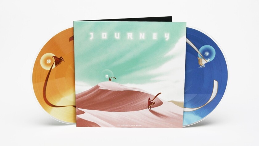 """Journey,"" the vinyl soundtrack. Music by Austin Wintory, released by Iam8bit."