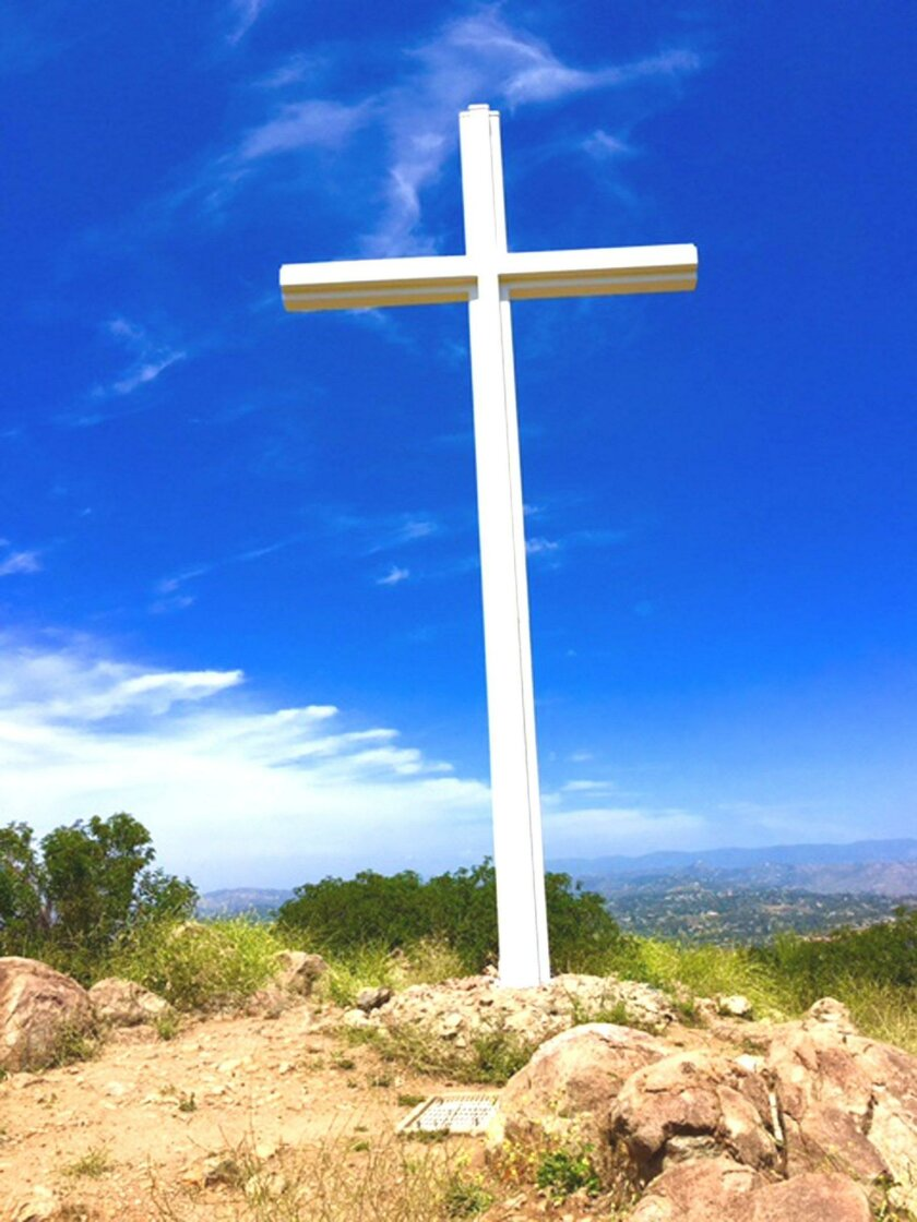 Rancho Bernardo's cross on Battle Mountain.