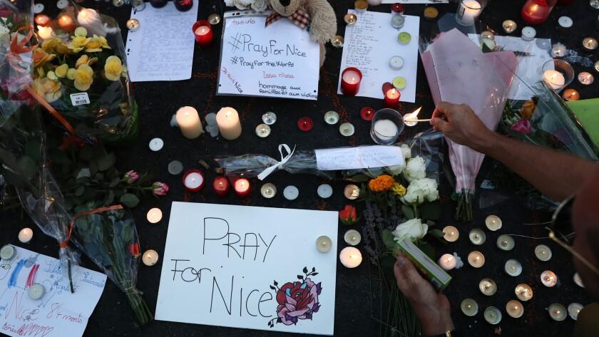 A memorial in Nice, France