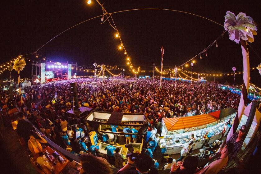 Fans flood the beach for the 2018 Baja Beach Fest in Rosarito, Baja California, Mexico.