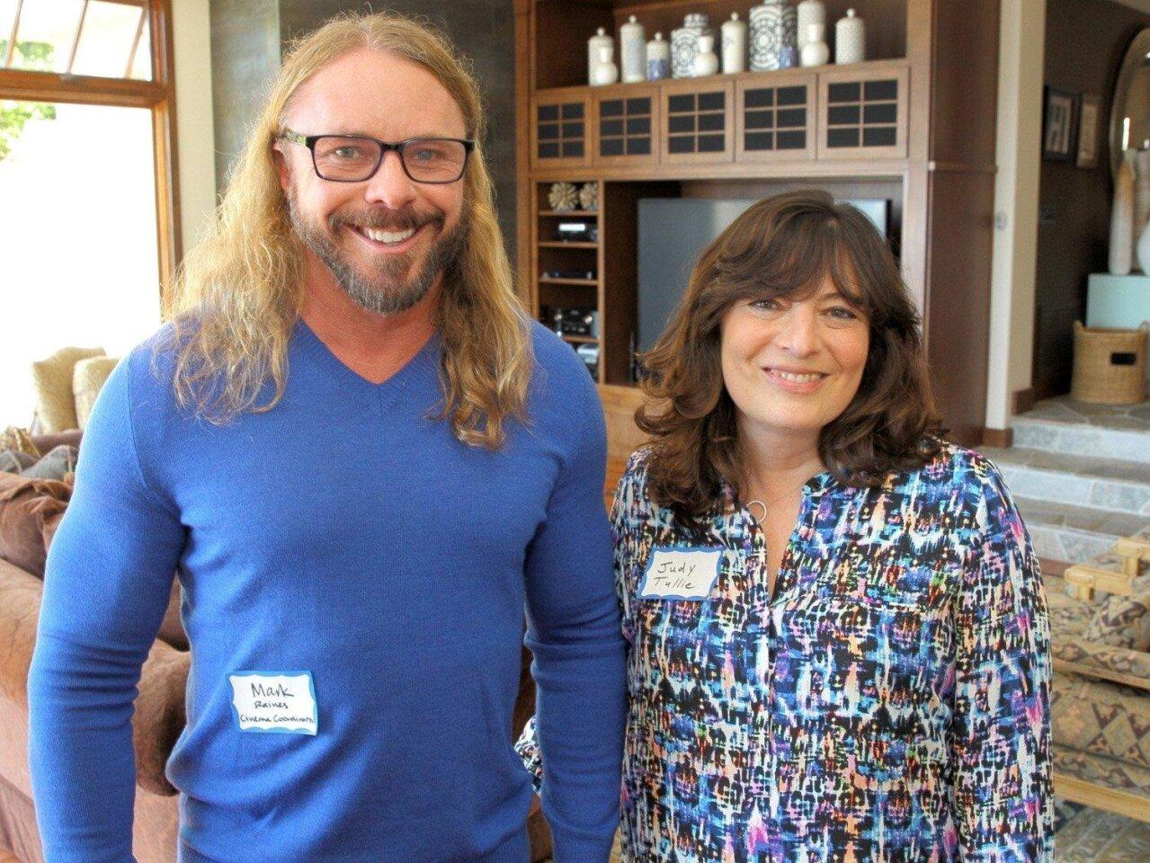 CA Cinema Coordinator Mark Raines with event host Judy Tullie