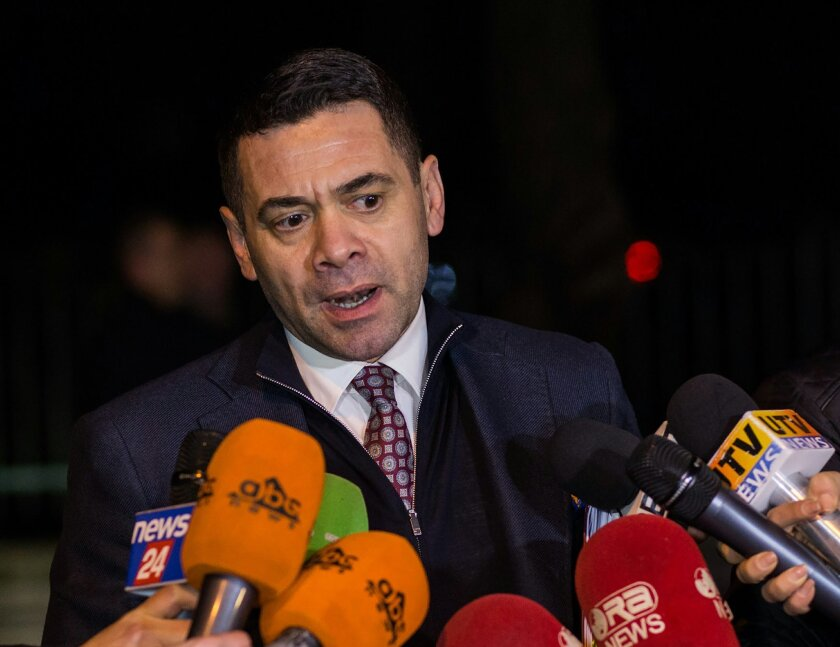 Former Economy Minister of Albania, Arben Ahmetaj, speaking in Tirana Friday, Feb. 5 2016. Arben Ahmetaj was nominated by Albanian Prime Minister Edi Rama as new finance minister to replace Shkelqim Cani, giving no reason on the move, Tuesday, Feb. 16, 2016. Ahmetaj needs to give better results in