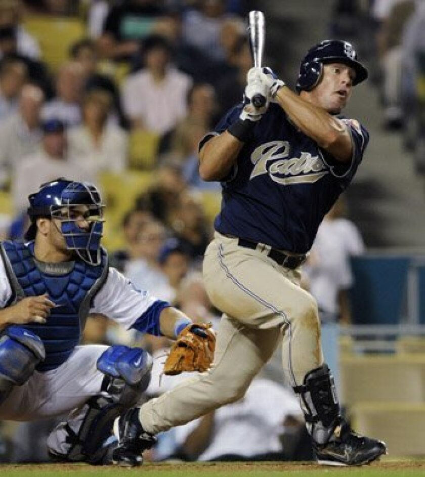 Brian Giles could be swapping Petco Park for Fenway Park if the Padres, the Red Sox and the veteran outfielder can agree on a deal. AP Photo/Chris Pizzello