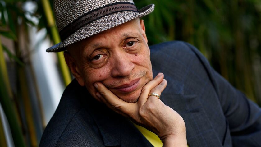 WESTWOOD, CA., APRIL 19, 2013: Portrait of novelist Walter Mosley who has a new book being release