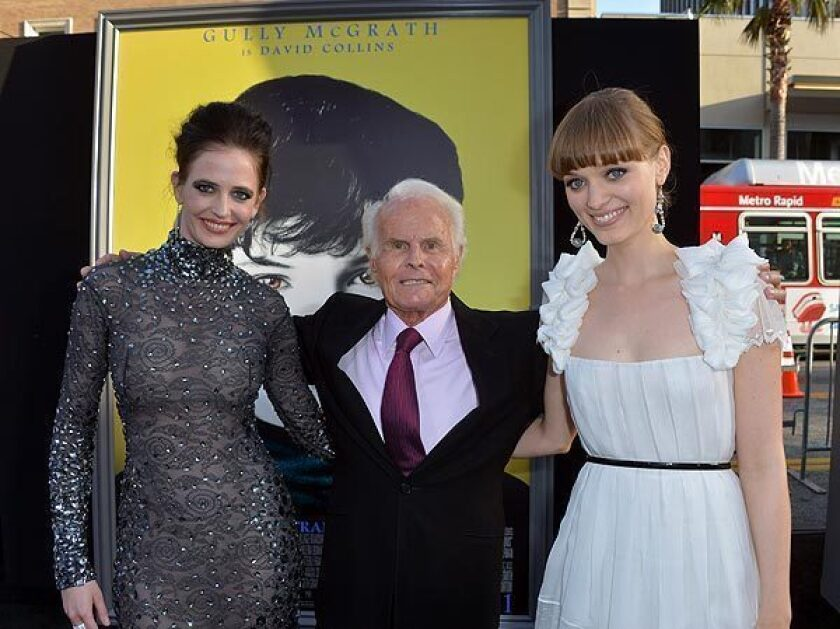 """Actress Eva Green, producer Richard D. Zanuck and actress Bella Heathcote arrive at the premiere of Warner Bros. Pictures' """"Dark Shadows"""" at Grauman's Chinese Theatre on May 7, 2012, in Hollywood."""