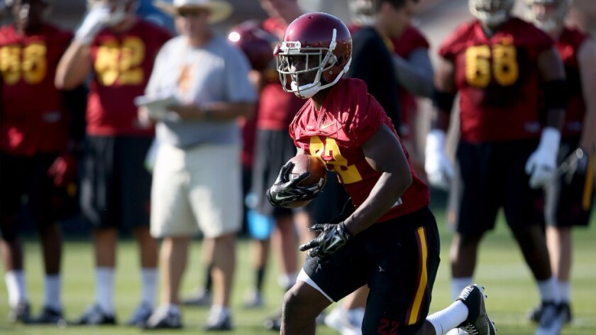 As USC's only senior running back, Justin Davis is reliable and experienced.