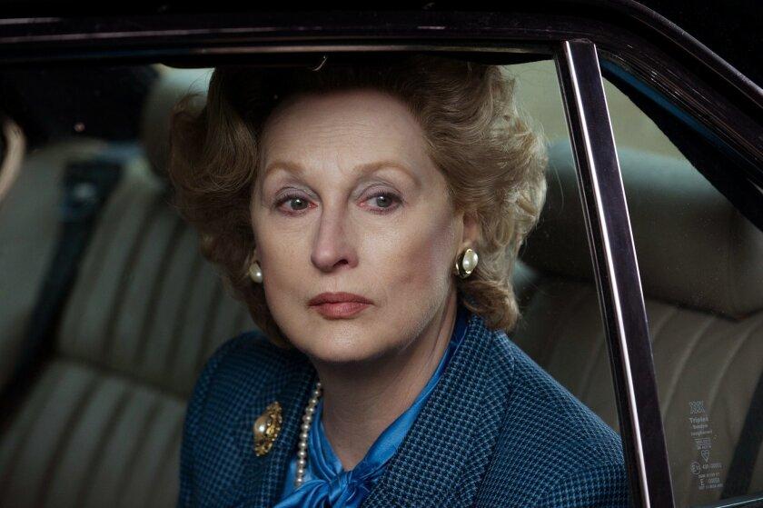 "Meryl Streep plays British prime minister Margaret Thatcher in""The Iron Lady."" Alex Bailey/Weinstein Company"