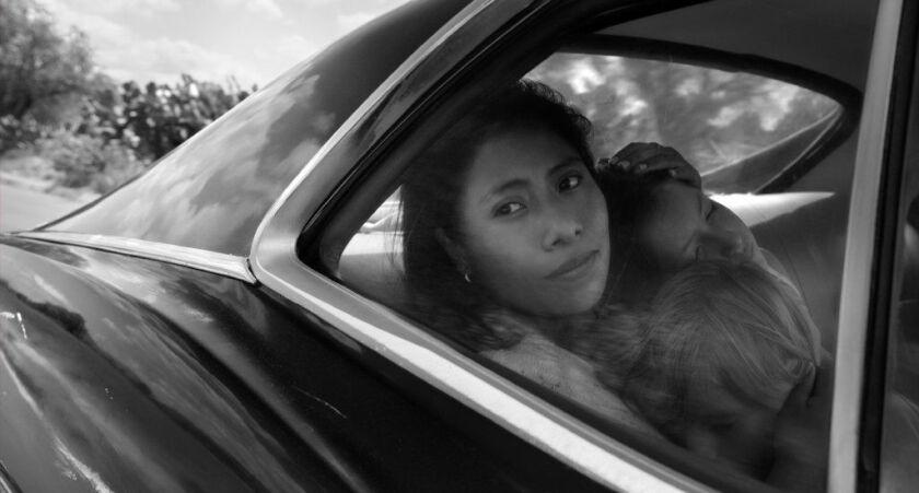 "Yalitza Aparicio as Cleo in ""Roma."""