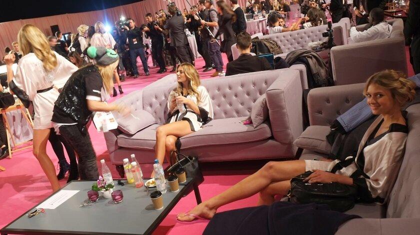 Victoria's Secret backstage