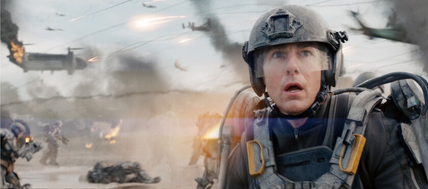 """Tom Cruise stars in Warner Bros. Pictures and Village Roadshow Pictures' sci-fi thriller """"Edge of Tomorrow."""""""