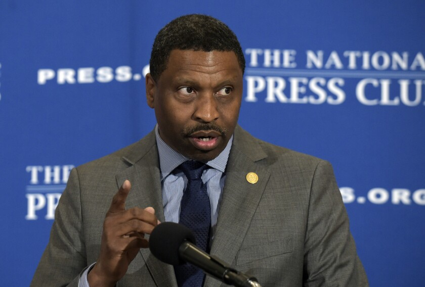 NAACP President Derrick Johnson is shown in 2017