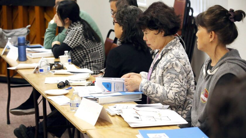 Chinese couples and Individuals take part in the L.A. Foster Care System training program at the Row