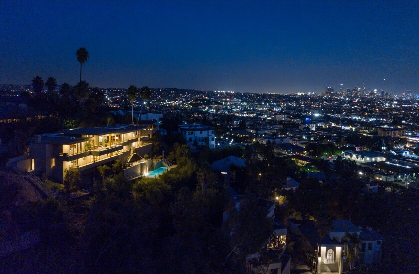 Zac Efron's hillside home includes three levels of decks, balconies and patios, as well as a swimming pool and spa.