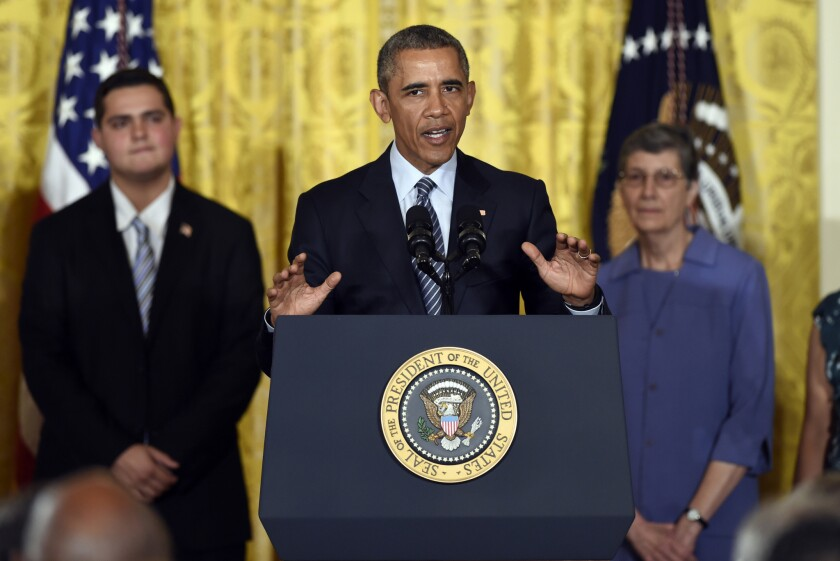 President Obama outlined a new climate plan Monday at the White House that mandates even steeper greenhouse gas cuts from U.S. power plants than previously expected, while granting states more time and broader options to comply.