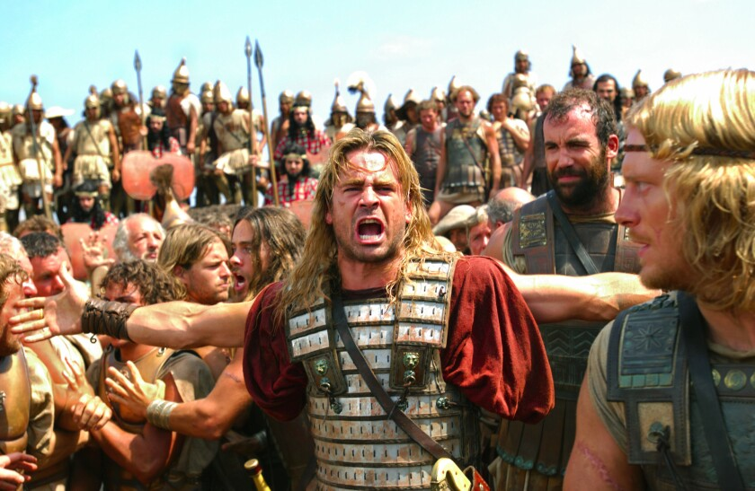 "Colin Farrell is Alexander the Great in ""Alexander."""