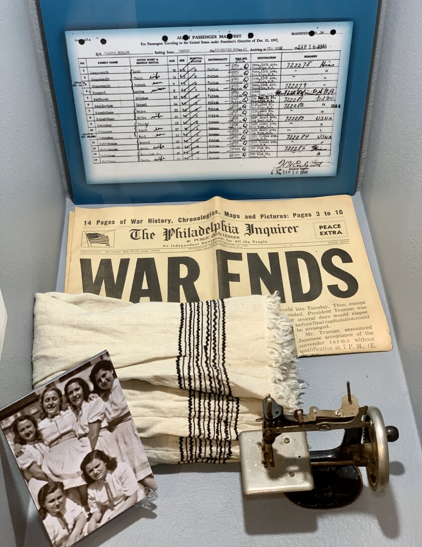 A display at a Holocaust exhibit that's set to open Sunday at the Heritage Museum at the Civic Center branch library in Chula Vista.