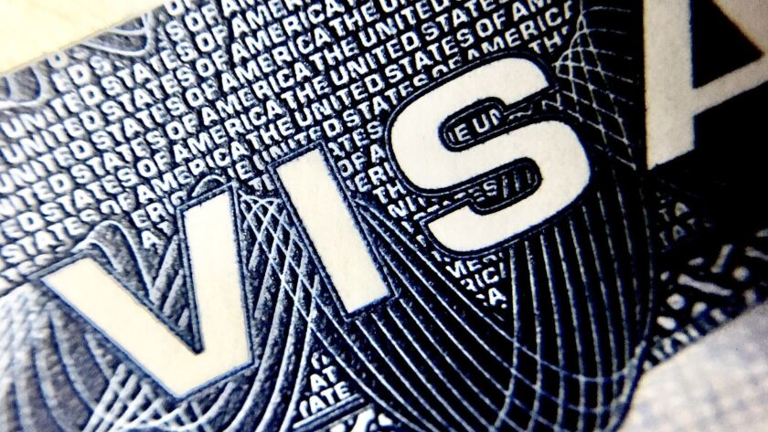 The H-1B visa program provides three-year work permits to non-immigrants.