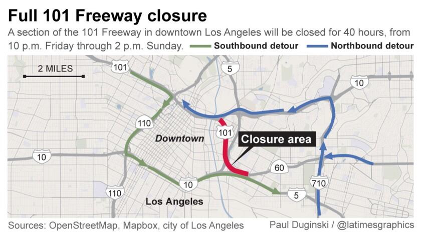 101 Freeway closure