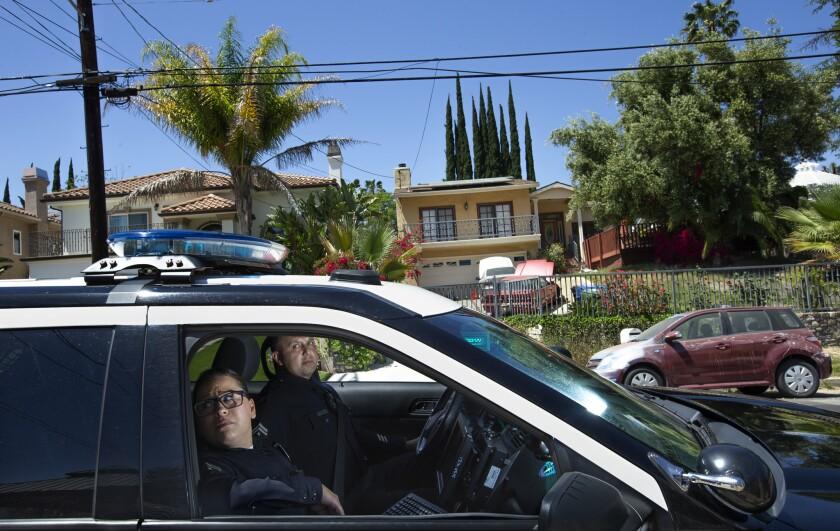 LAPD Officers Denise Vasquez and Oscar Bocanegra