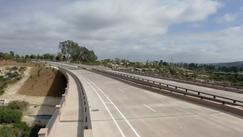 Carlsbad plans to open the newly constructed 'missing link' of Poinsettia Lane on Thursday.