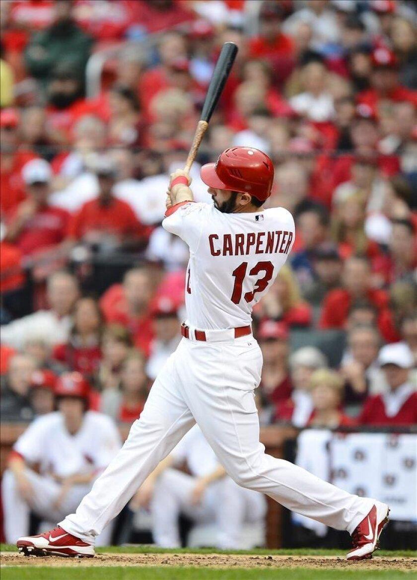 En la imagen, el primera base Matt Carpenter. EFE/Archivo