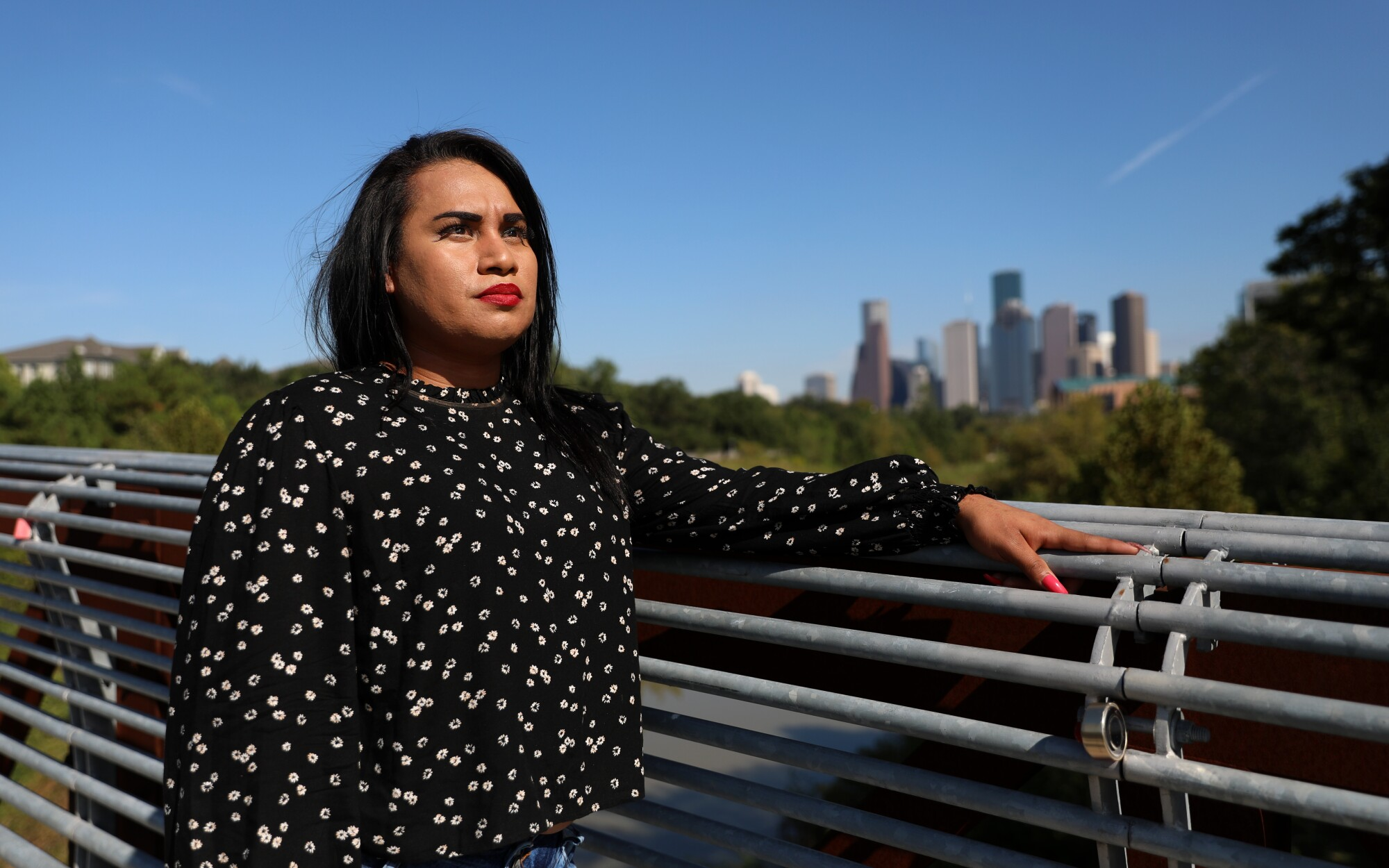 Mayela Villegas fled San Salvador after receiving death threats from gangs.