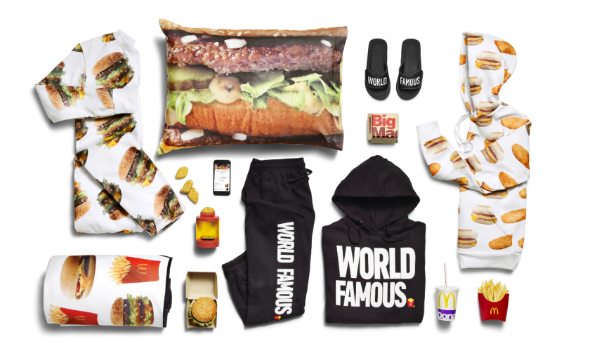 """McDonald's announced the McDelivery Collection on July 20, 2017. The fast food giant describes it as """"a selection of fun, fashion forward items you can wear or use whenever and wherever you order"""" delivery from the chain."""