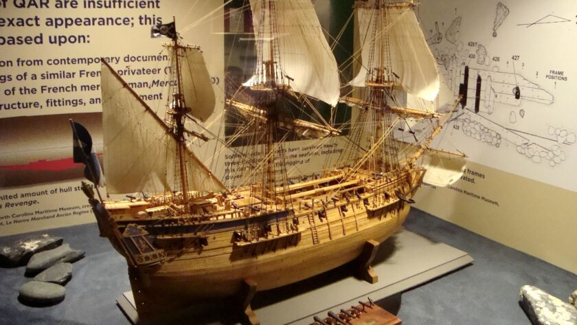 A model of ``Queen Anne's Revenge,'' flagship of the 18th century pirate Blackbeard, at the North Ca