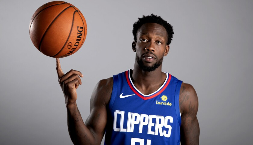 LOS ANGELES, CALIF. -- MONDAY, SEPTEMBER 24, 2018: Clippers point guard Patrick Beverley poses for p