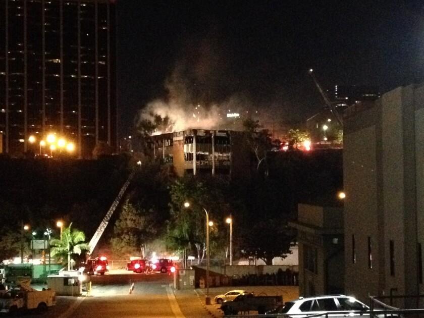 Fire near downtown Los Angeles