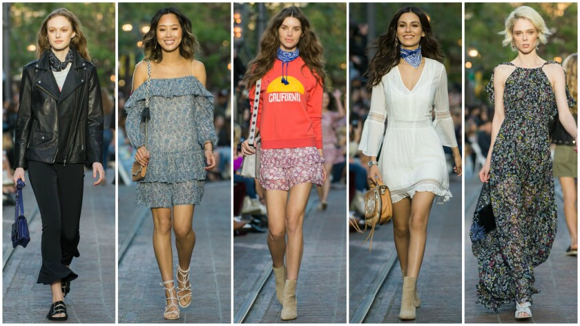 Looks from the Rebecca Minkoff spring 2017 collection.