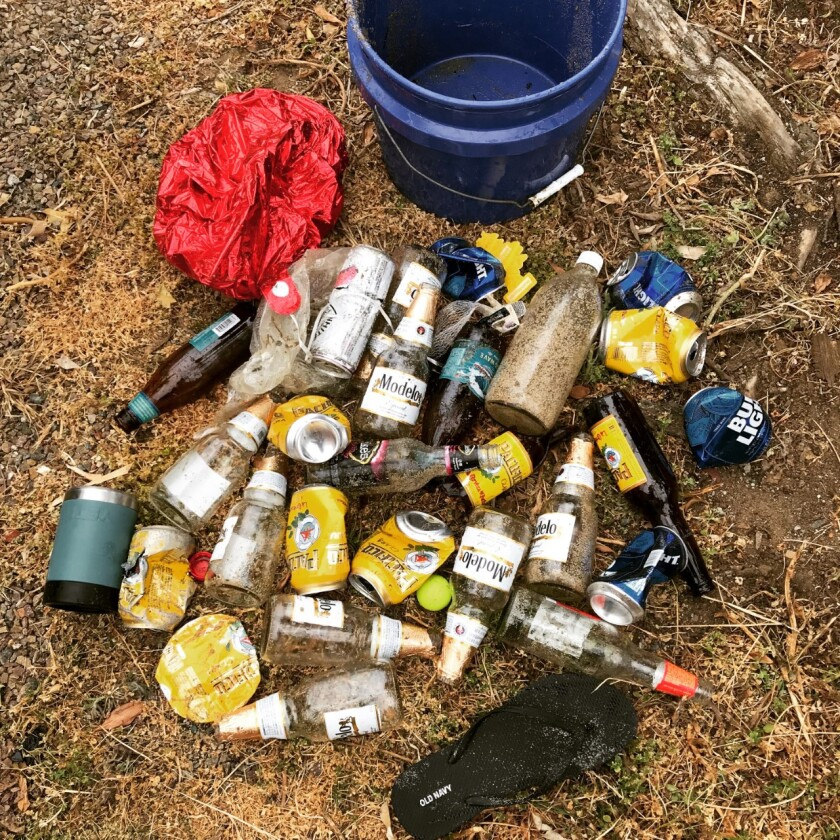 An influx of trash, including many cans and bottles of alcohol, has been found in the Sunset Cliffs area.