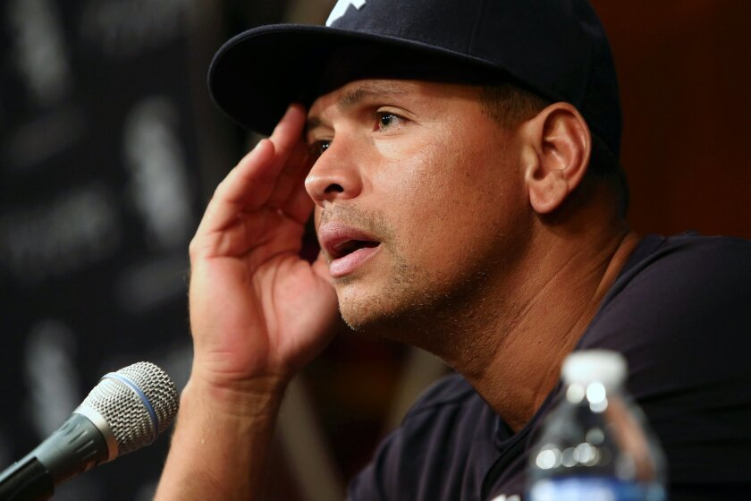 """FILE - In this Aug. 5, 2013, file photo, New York Yankees' Alex Rodriguez speaks during a news conference before the Yankees played the Chicago White Sox in a baseball game in Chicago. Rodriguez was suspended through 2014 that day when Major League Baseball disciplined 13 players in a drug case. A lawyer says his firm has settled its lawsuit accusing Rodriguez of failing to pay legal bills stemming from the Biogenesis scandal. Peter Siachos of Gordon Rees Scully Mansukhani said Thursday, Nov. 19, 2015, the suit was settled """"amicably"""" this month. He declined to disclose the terms. Rodriguez was suspended for the 2014 season after then-Commissioner Bud Selig concluded he violated the sport's drug agreement and labor contract. Gordon Rees had claimed it helped get Rodriguez's original 211-game suspension reduced to 162 games in arbitration. (AP Photo/Charles Cherney, File)"""