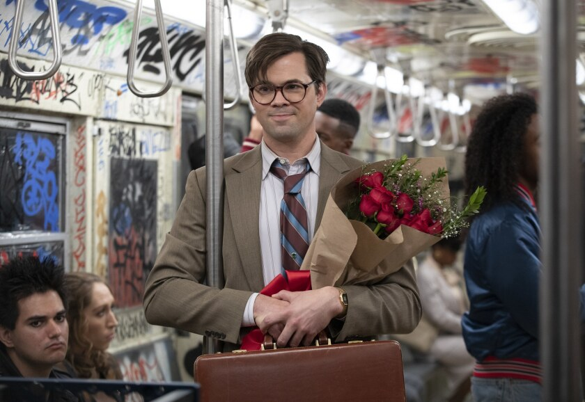 """Andrew Rannells, above, stars with Don Cheadle and Regina Hall in Showtime's """"Black Monday,"""" executive produced by Evan Goldberg and Seth Rogen."""