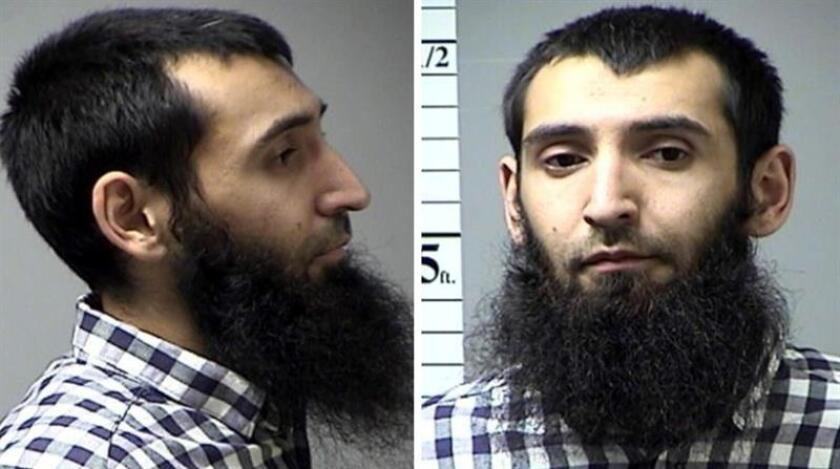 El uzbeko Sayfullo Saipov, acusado de cometer el atentado terrorista en Nueva York el 31 de octubre que causó la muerte de ocho personas y dejó doce heridos, se declaró hoy inocente de los cargos durante una audiencia en una corte federal en Nueva York. EFE/ST. CHARLES COUNTY DEPARTMENT OF CORRECTIONS / SÓLO USO EDITORIAL - NO VENTAS