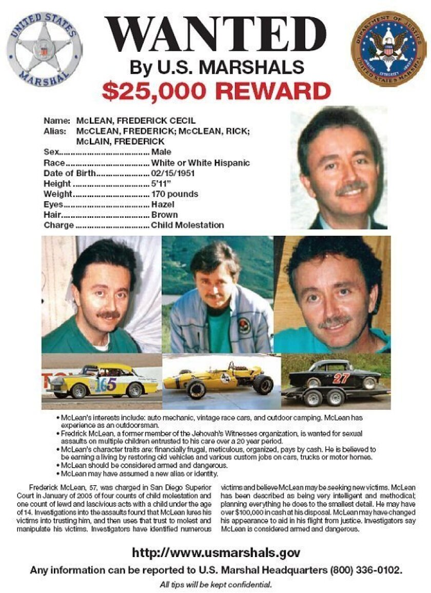 From the San Diego Fugitive Task Force