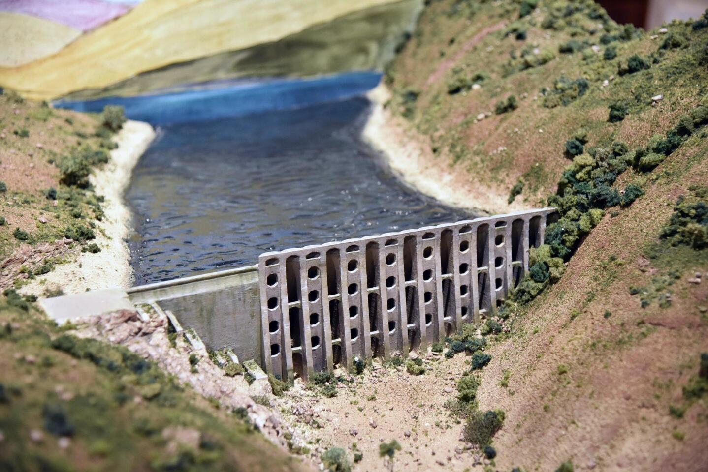 The dam parts were fabricated using 3D printing technology