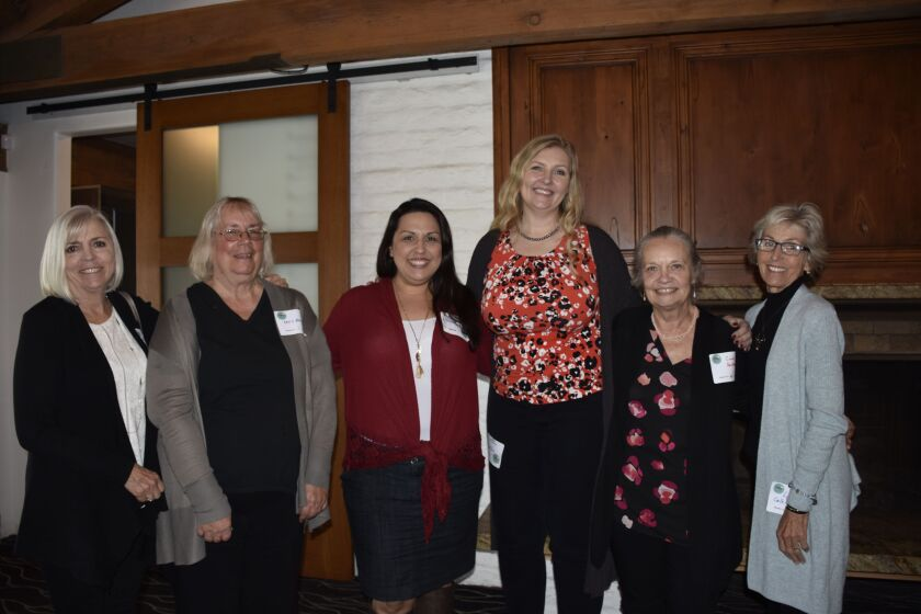 Hand to Hand Grants Committee members with Operation Hope staff (as identified): Isobel Shapiro, Christine Bruso, Nicole Ketcher, Operation Hope director of development, Charity Singleton, Operation Hope executive director, Cindy Dankberg, Lynne Calkins