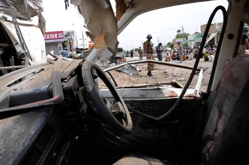 In Pakistan, three bomb blasts kill at least 36