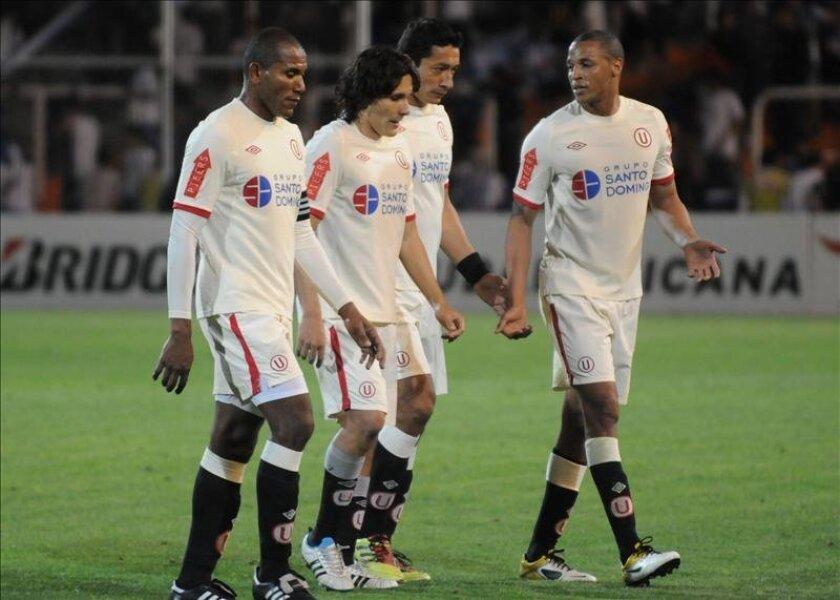 En la imagen, jugadores del Universitario de Perú. EFE/archivo