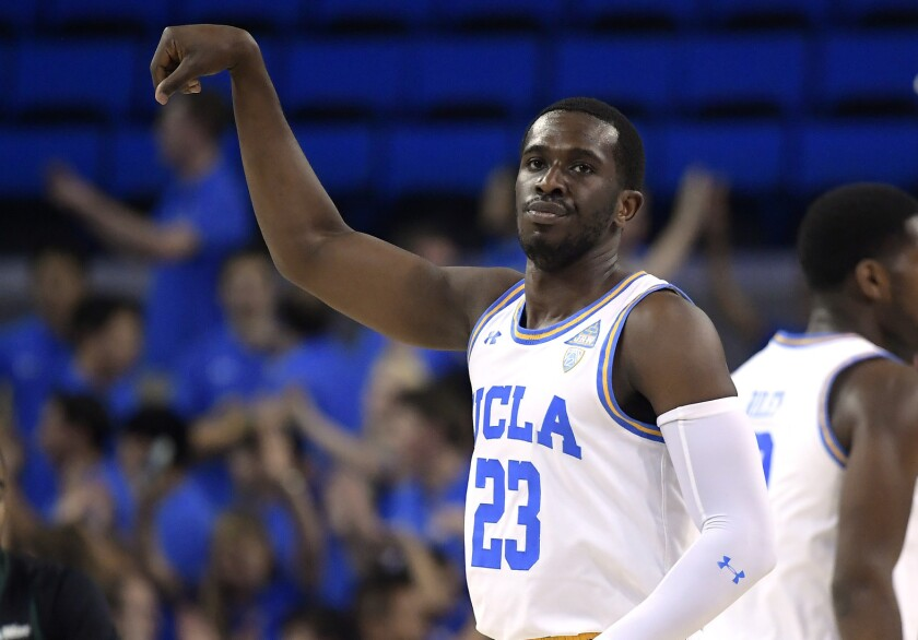 UCLA guard Prince Ali, shown during a game last season, had 12 points, six rebounds, three assists and two steals against UC Santa Barbara on Sunday.