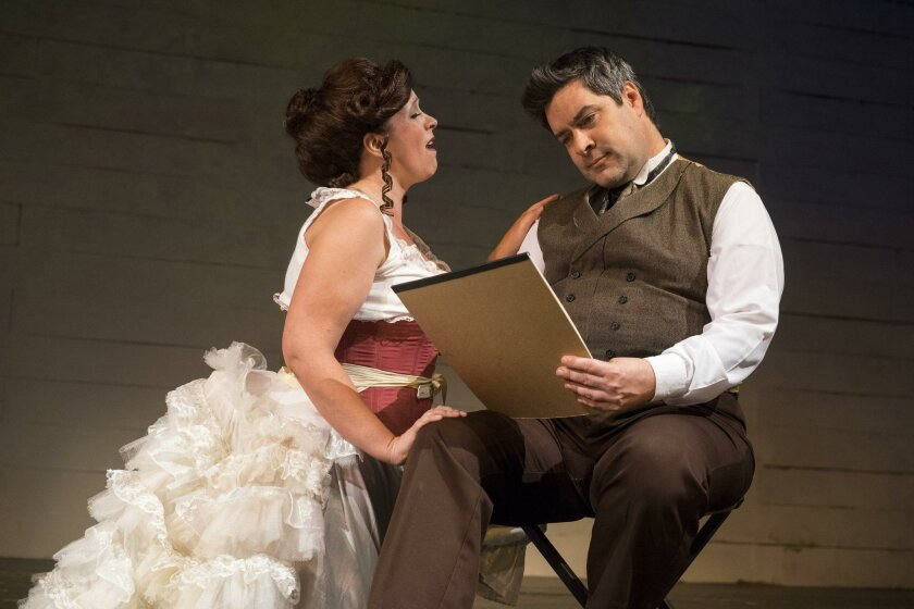 """Melissa Fernandes and Jon Lorenz in Ion Theatre's """"Sunday in the Park With George."""""""
