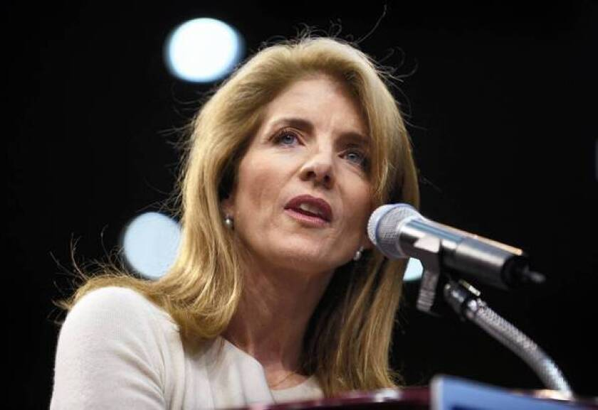 Caroline Kennedy speaks at a 2008 election rally in Los Angeles for then-Sen. Barack Obama. If the Senate approves her nomination to be ambassador to Japan, it will be her first formal political post.