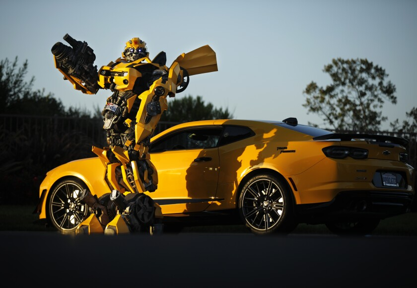 Justin Wu wears his B-127 costume, also known as Bumblebee from the Transformer series.