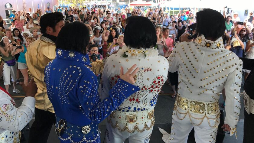 Elvis Tribute Artists (from Lt: George Thomas, Rob Hund, Sean Martin and Lloyd Aron Douglas) perform